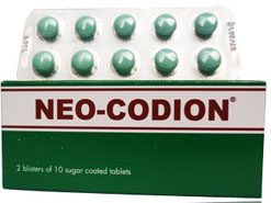 Thuốc neo và giá thuốc ho neo codion là bao nhiêu ?